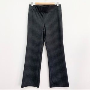 Max Studio | Woven Ponte Stretch Striped Pants L